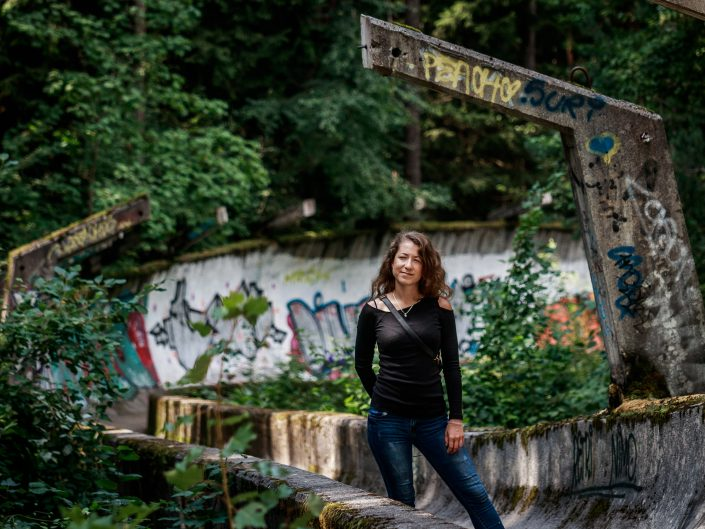 Abandoned Olympic Bobsled